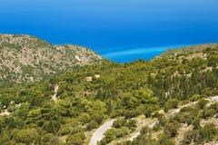 Lefkada coast beach Greece Stock Photo