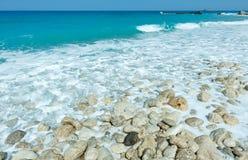 Lefkada coast summer beach (Greece) Royalty Free Stock Image