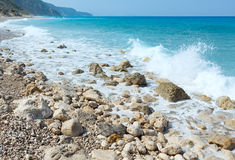 Lefkada coast summer beach (Greece) Royalty Free Stock Photography