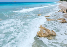 Lefkada coast summer beach (Greece) Royalty Free Stock Images