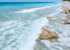 Lefkada coast summer beach (Greece) Royalty Free Stock Images