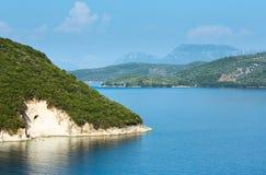 Lefkada coast summer landscape (Greece) Royalty Free Stock Image