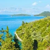 Lefkada coast summer landscape (Greece) Royalty Free Stock Photos