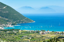 Lefkada coast summer view (Vasiliki, Greece) Stock Photos