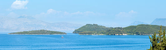 Lefkada coastline summer panorama (Greece) Stock Photography