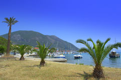 Lefkada coastline view,Greece Stock Images