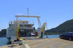 Lefkada  ferry Royalty Free Stock Image