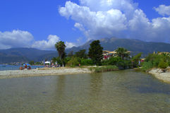 Lefkada river outflow and landscape Royalty Free Stock Images