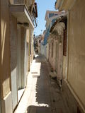 Lefkada, Greece. Wandering in Lefkada small steets stock image
