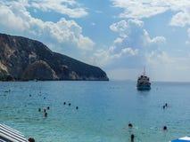 View of Porto Katsiki Beach royalty free stock photos