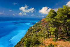 Lefkada. Greece. Ionian Islands - Lefkada. The western coast stock image