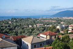 Lefkada houses Stock Images