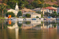 Lefkada-Insel-Dorf Stockbild