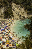 Lefkada island, Agiofilli beach, Greece - August 29 2016: Summer holidays Royalty Free Stock Photography