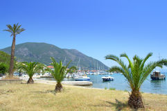Lefkada island coastline view Stock Photos