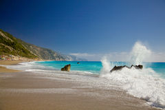 Lefkada island, Greece Stock Images