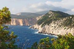 Lefkada island, west coast during sunset Royalty Free Stock Images