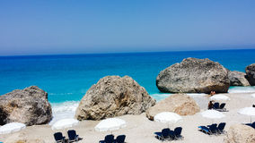 Lefkada Kavalikefta Beach Royalty Free Stock Photo