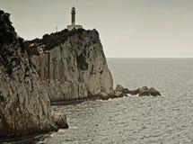 Lefkada latarnia morska Zdjęcie Stock