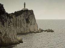 Lefkada lighthouse Stock Photo