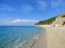 Lefkada milos beach Royalty Free Stock Photography
