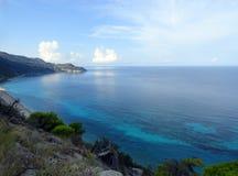 Lefkada milos beach Stock Photo