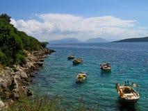 Lefkada, plaża Fotografia Stock