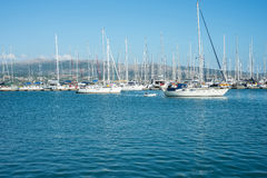 Lefkada port Arkivbilder