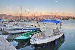 Lefkada port,Greece Stock Image