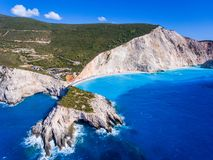 Lefkada Porto Katsiki Beach the most well known brach on the isl Stock Images
