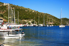 Lefkada's sea - Desimi boats Royalty Free Stock Photography