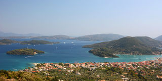 Lefkada Sea Aerial View Royalty Free Stock Images