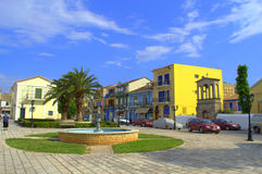 Lefkada square,Greece Royalty Free Stock Photo
