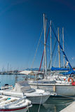 LEFKADA TOWN, GREECE JULY 17, 2014: yacht harbor at Lefkada town, Greece Royalty Free Stock Image
