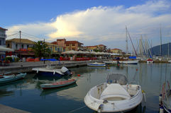 Lefkada waterfront view,Greece Royalty Free Stock Photos