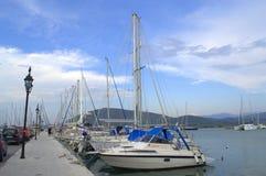 Lefkada yacht port,Greece Royalty Free Stock Photo
