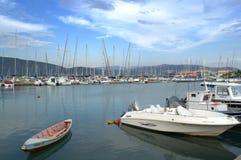 Lefkada yacht port, Greece Royalty Free Stock Photo