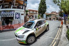 LEFKARA, CYPRUS - JUNE 17, 2018: Special stage of Cyprus Rally 2 Stock Image