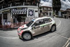 LEFKARA, CYPRUS - JUNE 17, 2018: Special stage of Cyprus Rally 2018 Royalty Free Stock Image
