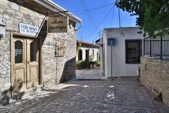 Lefkara, Cyprus - November 2. 2018. Narrow streets in the highland ancient village royalty free stock photography