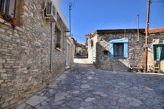 Lefkara, Cyprus - November 2. 2018. street in ancient village of Lefkara, Cyprus royalty free stock photography