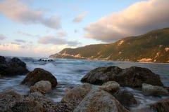 lefkas ландшафта острова Греции Стоковое фото RF