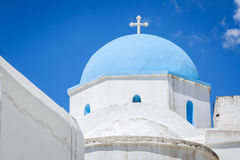 Lefkes church in Paros, Greece. Greek church in Lefkes, Paros island, Greece Stock Photos