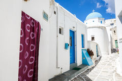 Lefkes church in Paros, Greece. Greek church in Lefkes, Paros island, Greece Royalty Free Stock Image