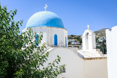 Lefkes church in Paros, Greece. Greek church in Lefkes, Paros island, Greece Royalty Free Stock Images