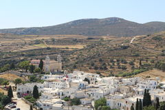 Lefkes. A city form the Byzantine time on Paros island, Greece Royalty Free Stock Photo