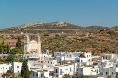 Lefkes, Greece. Famous Lefkes village on Paros island, Greece Stock Images