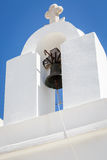 Lefkes village, Paros, Greece. Detail of a bell tower in Lefkes in Paros island, Greece Royalty Free Stock Images