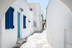 Lefkes village, Paros, Greece. The village of Lefkes in Paros island, Greece Stock Photo