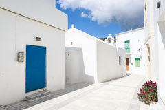 Lefkes village, Paros, Greece Royalty Free Stock Photos